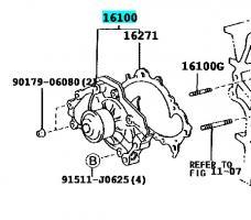 Помпа водяная Тойота Камри XV30 3.0 (GMB)
