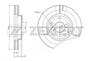 Передние тормозные диски Тойота Камри V30 2.0 (Zekkert)