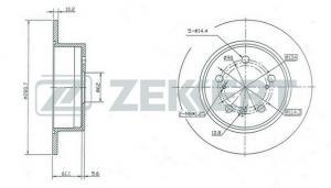 Задние тормозные диски Тойота Камри V40-50 (Zekkert)