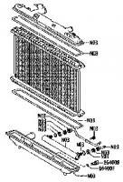 Радиатор двигателя Тойота Камри XV40 2.4 (TERMAL)
