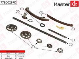 Комплект цепи ГРМ Тойота Камри V40 2.4 (Masterkit)